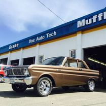 Brown classic car at Dox Auto Tech